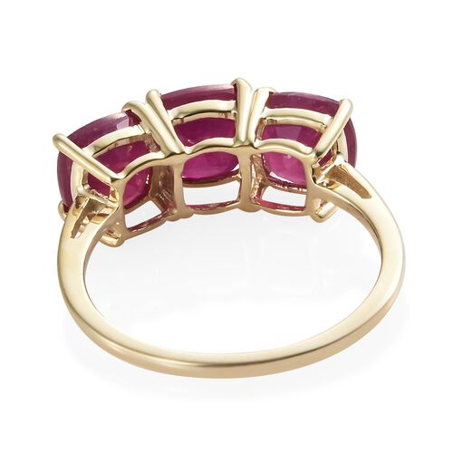 African Ruby (4.65 Ct) 9K Y Gold Ring  4.650  Ct.