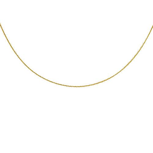 Italian Made 18 Inch Diamond Cut Spiga Chain in 9K Gold 1.21 Grams