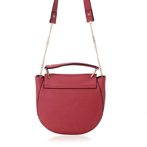 Red Colour Crossbody Bag (Size 36x23x8 Cm)