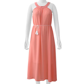 Peach Colour One Piece Dress