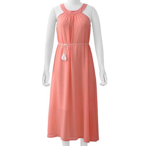 Peach Colour One Piece Dress