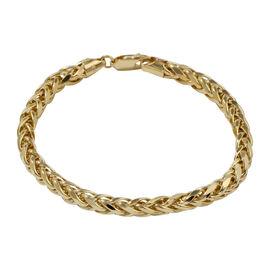 JCK Vegas Collection- 9K Yellow Gold Spiga Bracelet (Size 7.5), Gold wt 7.68 Gms