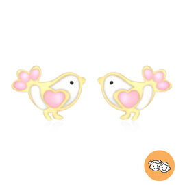 Children Bird Stud Earrings in 9K Yellow Gold