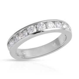 New York Close Out Deal - 14K White Gold Diamond (Rnd) (I1-I2/G-H) Ring 1.000 Ct.Size L