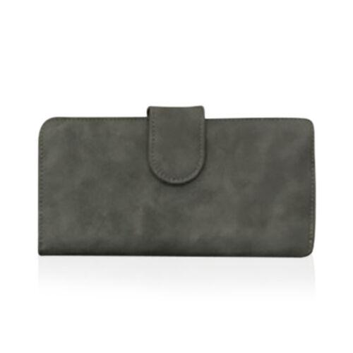 One Time Deal - Grey Colour Multi Compartment Ladies Wallet (Size 18.5x9.5x3.5cm)