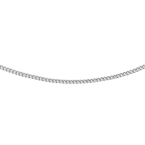 One Time Close Out Deal- Sterling Silver Curb Necklace (Size 18)