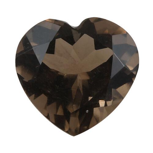 2.14 Ct AA Smoky Quartz Heart Shape Gemstone (9 mm) With Box