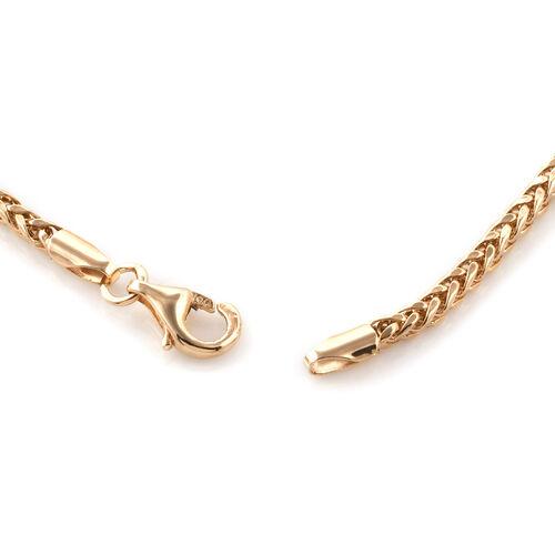 Royal Bali Collection 9K Yellow Gold Spiga Bracelet (Size 8)