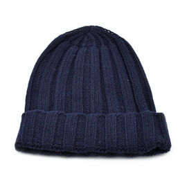 FIORUCCI Black Knitted Hat (Size 22x20cm)