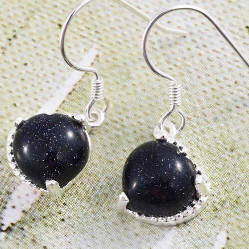 Blue Sandstone (Hrt) Hook Earrings in Sterling Silver 8.000 Ct.
