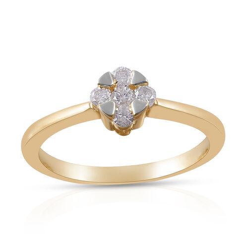 9K Yellow Gold Diamond (Rnd) Ring 0.250 Ct.