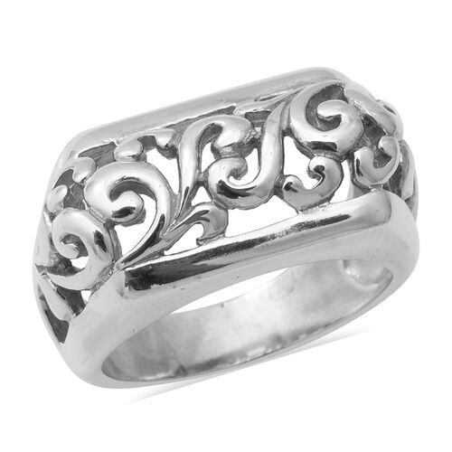 Vines Band Ring in Sterling Silver 9.66 Grams