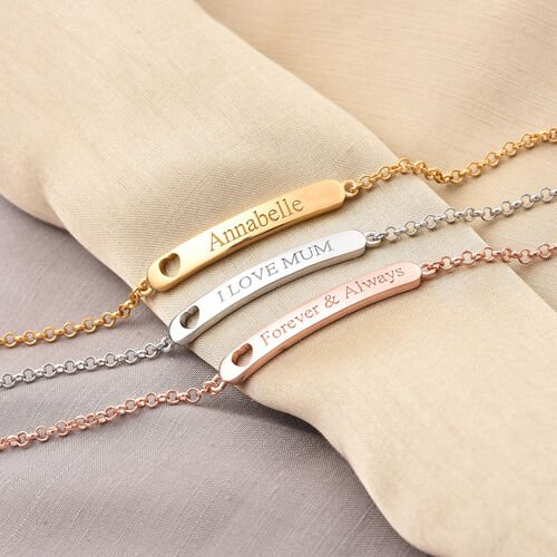 Personalise Engraved Children ID Bracelet Size 6 Inch