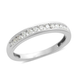 ILIANA 18K W Gold IGI Certified Diamond (Rnd) (SI/G-H) Half Eternity Band Ring 0.250 Ct.