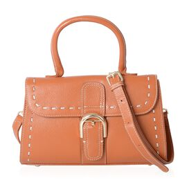 Mayfair Classic100% Genuine Leather Tan Colour Tote Bag with Removable Shoulder Strap (Size 27x16.5x