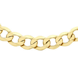 Hatton Garden Close Out 9K Yellow Gold Curb Necklace (Size 18),  Gold Wt. 13.07 Gms