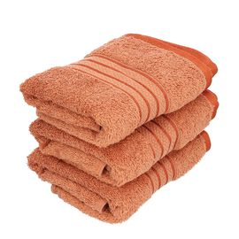 Set of 3 - Egyptian Cotton Terry Hand Towel - Copper