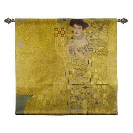 Signare Tapestry - Wall Hanging - Gustav Klimt Woman in Gold (Size 100x100 Cm)