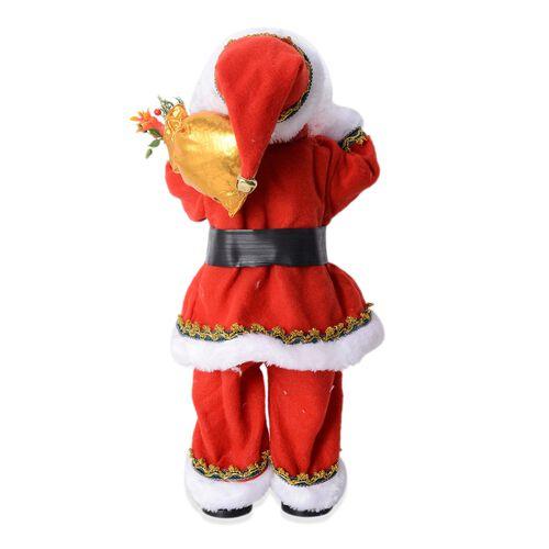 Christmas Decorations Singing Electric Santa Claus (Size 53x15 Cm)