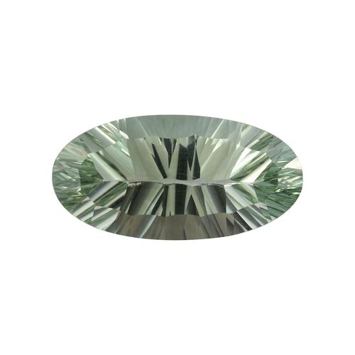 AAA Prasiolite Oval 24x12 Concave 13.65 Cts