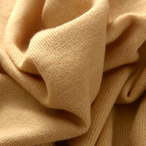 Limited Available - 100% Pashmina Wool Cream Colour Body Shawl (Free Size)