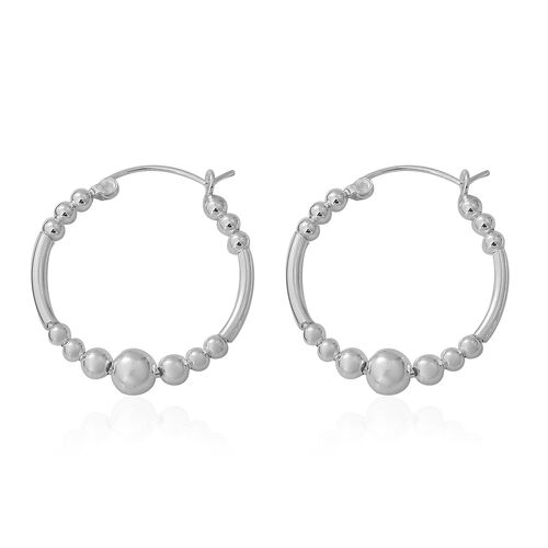Sterling Silver Hoop Earrings, Silver wt. 4.97 Gms