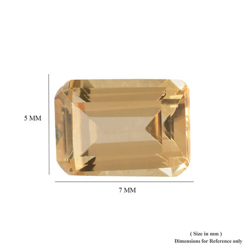 AAA Imperial Topaz Octagon 6.68x4.93x3.24 Faceted 1.0 Cts