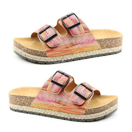 Heavenly Feet Flutter Womens Red and Multi-Coloured Sandals (Size 3)