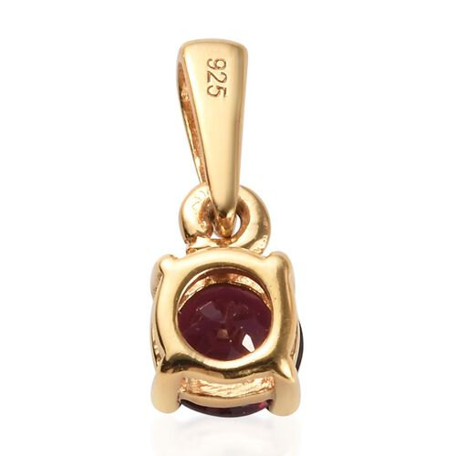 2 Piece Set - Rhodolite Garnet (Rnd) Pendant and Stud Earrings (with Push Back) in 14K Gold Overlay Sterling Silver 1.75 Ct.