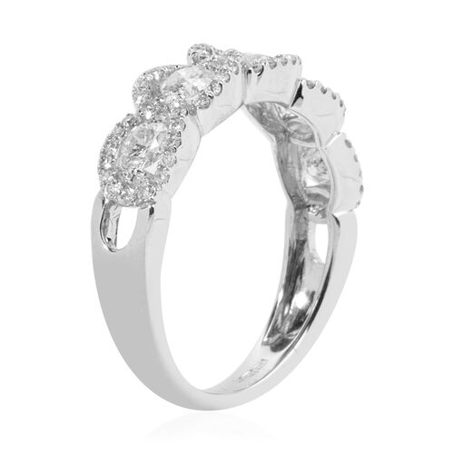 New York Close Out- 14K White Gold Diamond (Rnd) (I1-I2/G-H) Ring 1.000 Ct.