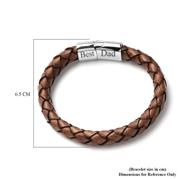 Personalise Men's Secret Message Leather Bracelet