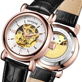 Gamages - Skeleton Automatic Rose Watch