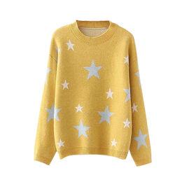Kris Ana Star Print Wool Jumper One Size (8-16) - Mustard