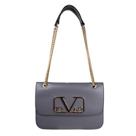 19V69 ITALIA by Alessandro Versace Shoulder Bag with Magnetic Closure (Size 24x15.5x6Cm) - Grey