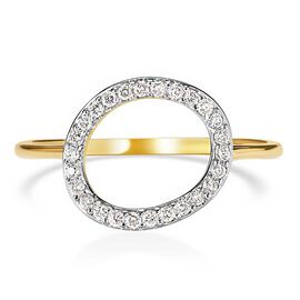 RACHEL GALLEY Versa Collection - 9K Yellow Gold SGL Certified Diamond (I1/G-H) Ring