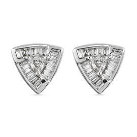 RHAPSODY 950 Platinum IGI Certified Diamond (VS/E-F) Stud Screw Back Earrings 0.50 Ct.