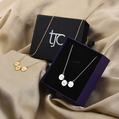 Personalise Multi Initial Disc Necklace with 20Inch Chain