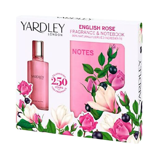 Yardley: English Rose Set (Incl. Eau De Toilette - 50ml & A5 Notebook)