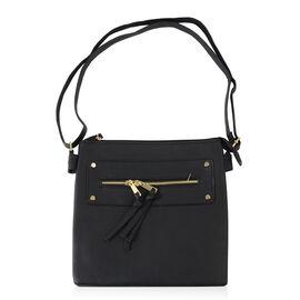 Navy Colour Handbag with Adjustable Strap