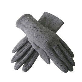 DOD - Snowflake Pattern Gloves - Black