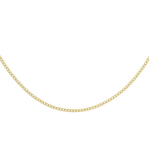 9K Yellow Gold Flat Curb Chain (Size 20), Gold wt 1.40 Gms