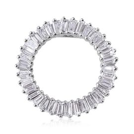 RHAPSODY 0.50 Carat Diamond Circle of Life Pendant in 950 Platinum 2.46 Grams IGI Certified VS EF