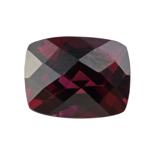 AAA Rhodolite Garnet Cushion 9x7 Checkerboard 2.90 Cts