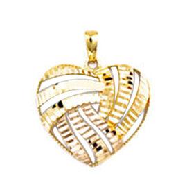 Italian Made 9K Yellow Gold Heart Pendant