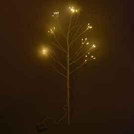 76cm Tall Tree with 40 LED Warm Lights - (3xAA Battery Not Included)