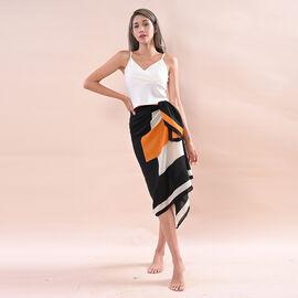 JOVIE 100% Viscose Printed Sarong (Size:80x180Cm) - Yellow and Black