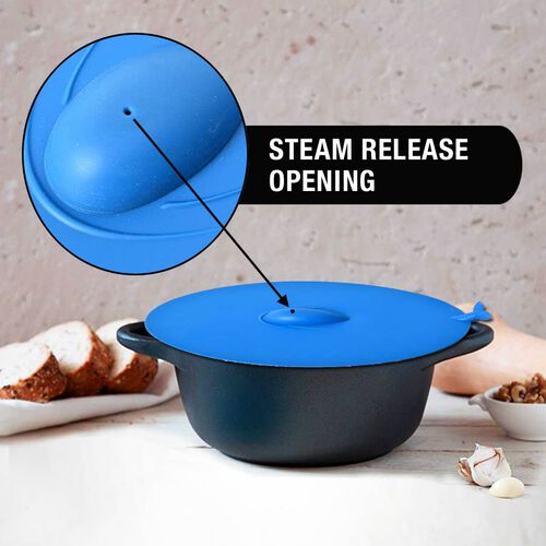 Blue Whale Design Silicone Food Cover (Size 28x28x0.5 Cm) - Blue