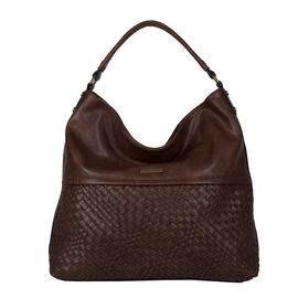 Bulaggi Collection- Bryon Hobo Shoulder Bag (Size 36x36x11 Cm) - Dark Brown