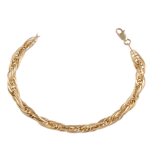 Vicenza Collection - Designer Inspired 9K Yellow Gold Prince of Wales Bracelet (Size 7.5 with 1 Inch Extender), Gold wt. 5.59 Gms