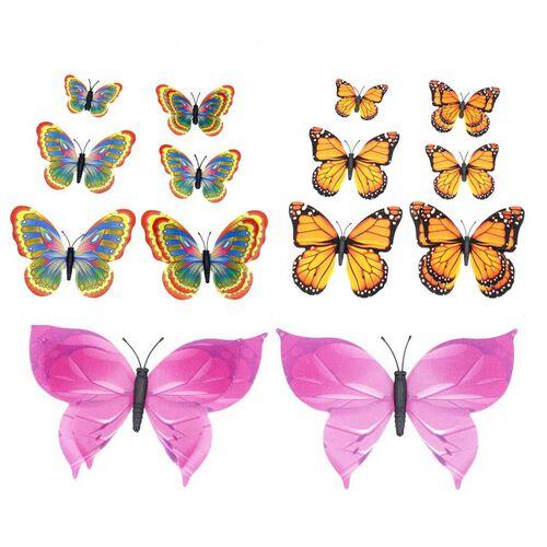 42 Pcs Set - Multi Colour Magnet 3D Butterflies